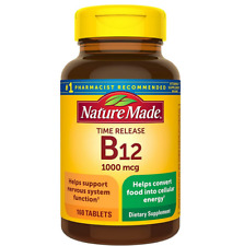 Nature Made Super Vitamin B12 1000 mcg 160 Tablets Metabolic Support