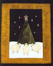 PRIMITIVE WOOL APPLIQUE PENNY RUG PATTERN SHEEP CHRISTMAS TREE *NEW*