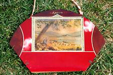 Ajaccio Corse cadre plaque verre souvenir rétro CAP Vintage Wall Glass Frame 50s