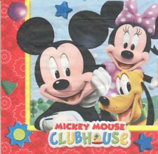 Lot de 4 Serviettes en papier Mickey Mouse Decoupage Collage Decopatch