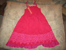 American Girl - Red Pretty Party Dress for Girls Cotton Jersey Size 7 NWT'S