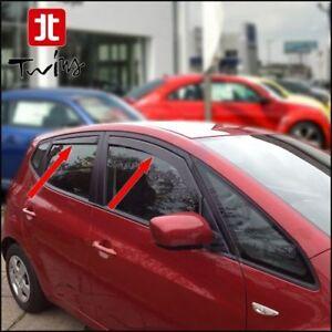 Set 4 Déflecteurs de vent pluie air teintées Kia Venga