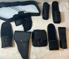 Tomixxx 10 Piece Security Guard Black Law Enforcement Equipment Gear Belt Set