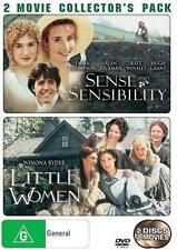 SENSE AND SENSIBILITY/LITTLE WOMEN Emma Thompson, Winona Ryder 2DVD NEW