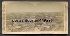 s25 - CANADA Calgary 1900 Panorama Looking West. Underwood Stereoview Photo