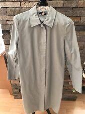 EUC GAP Cotton Raincoat - Mackintosh - Light Blue - Large