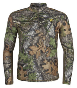 Scent Blocker Angatec 1/4 Zip Shirt XXL Mossy Oak Obsession Turkey Bowhunting