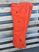 Snowboard pants, North Face Mens small, orange