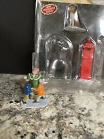 Lemax Village Figurine Dog Mailbox Teamwork Kids Playing Christmas Accessory