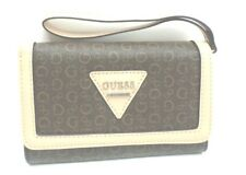 GUESS Wallet/Wristlet Cellphone Holder *Polish SLG*Naturel Brown Clutch New