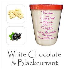 Elegante fonduta Cioccolato da AUX anysetiers du Roy White Chocolate & RIBES NERO
