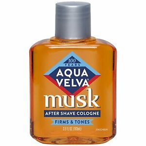 6 PACK Aqua Velva Musk After Shave Cologne 3.5 oz