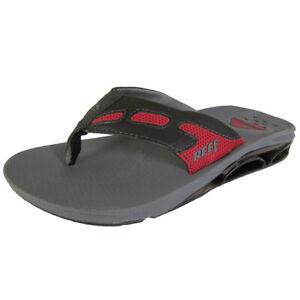 Reef Mens X-S-1 Thong Flip Flop Sandal Shoes, Black/Red, US 7