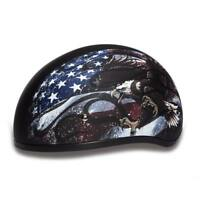 Daytona Skull CAP USA Half Helmet Biker Motorcycle DOT Approved Daytona Helmet