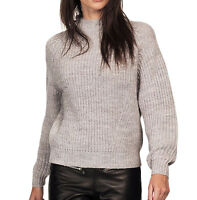 UK Plus Sizes 16 - 18 Ladies Grey Chunky Knit Long Sleeved Jumper
