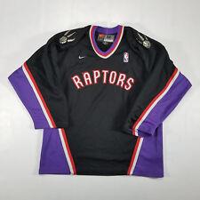 Vintage Toronto Raptor NBA Nike Hockey Jersey Size MEDIUM Black SPELL OUT 90s