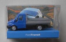 BLUE CAB FORD TRANSIT UTILITY TRUCK RIETZE 1/87 Plastic Mini HO Scale Plastic