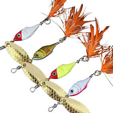 5Pcs Spinner Bait Treble Paillette Metal Fishing Lure Hard Lure Spinnerbaits