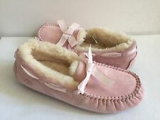 UGG DAKOTA STRIPE PETAL PINK SHEARLING LINE SLIPPERS US 8 / EU 39 / UK 6.5 - NEW