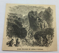 1885 magazine engraving ~ MOSES WELCOMED BY JETHRO IN MIDIAN