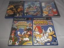 Bundle Games x5 for PS2: Sonic Mega Plus + Heroes + Tennis + Riders + Shadow
