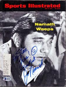 "Joe Namath Autographed Signed Sports Illustrated Jets ""To Stan"" Beckett B61209"