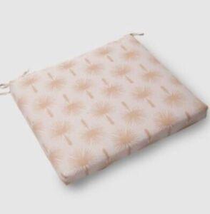 **NEW** Threshold Outdoor Seat Cushion - Palm Print & Cabana Stripe