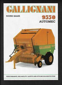 GALLIGNANI 9550 AUTOMEC ROUND BALER BROCHURE