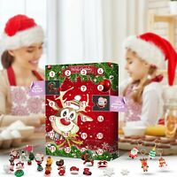 Christmas Elk Advent Calendar Christmas Decoration Xmas Gift With 24 Drawers