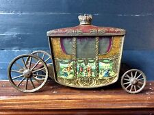 More details for antique rare jacob & co biscuits 1936 coronation coach tin box,ornate carriage