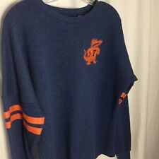 0220025 NCAA Florida Gators Blue Orange Sweatshirt Women's Small Long Sleeve S