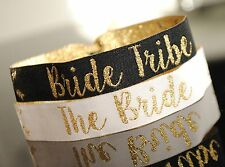 Bride Tribe Hen Do / Hen Party Wristbands / Bachelorette Party Bracelets