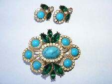 Sarah Cov brooch / pin earring set Sarah  Coventry