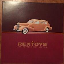 Rextoys Diecast Original Dealer Catalog First Edition Fulgurex Car Cadillac V16