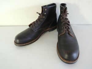 RED WING 3345 BLACKSMITH Black Leather 6-Inch Work Boots Size 10.5 D