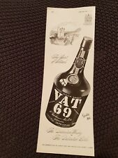 Vat 69 Scotch Whisky - 1950 Advertisement