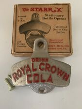 Vintage Royal Crown Cola Starr X Cast Iron Bottle Opener in Original Box Screws