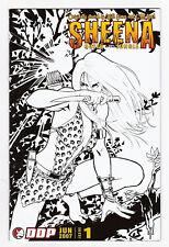 Sheena Queen of the Jungle 1 VFNM Nicola Scott B&W Sketch Variant DDP Comic Book