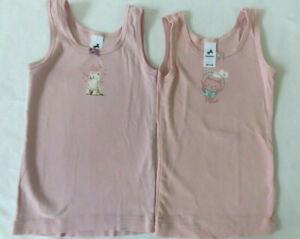Zwei Mädchen Unterhemden, Palomino, rosa  Gr. 98-104