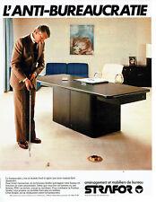 Publicité Advertising 097  1979  les meubles de bureau Strafor