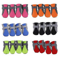 WO_ 4PCS ANTI SLIP MESH PUPPY PET DOG SHOES PROTECTIVE RAIN BOOTS BOOTIES SOCK F