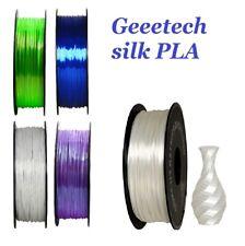 Geeetech Silk PLA Filament 1.75mm  Stampante 3d Silk PLA 1kg  Blu bianco nero