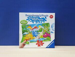 Ravensburger Dino Buddies Waterproof Plastic 12 Piece Jigsaw Brand New