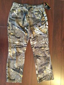 NWT $85 Storm Under Armour Fleece wader pants Ridge Reaper Waterfowl Camo L Duck