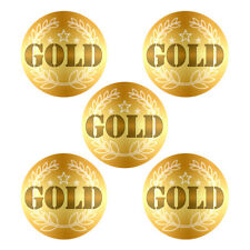 GOLD Sports / Award Shiny Foil Stickers x 125. Large 28mm. Ideal for Sports Day!