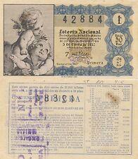 Lotería Nacional. Sorteo Número 1 de 1957. Número 42884.