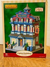 Lemax Post Office 75605 Lighted Building 2007 Free Shipping