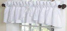Solid White Eyelet Baby Kid Bedding Window Valance Curtain by Sweet Jojo Designs