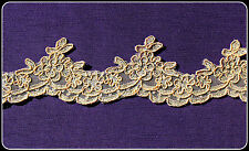 1m scalloped trim butternut colour cord & silver thread ballet tutu costume