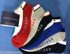 Tommy Hilfiger 6-Pair Athletic No Show Socks White w/Asst Trim   (1717)